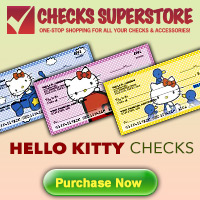 HELLO KITTY CHECKS