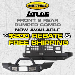 Get $200 BACK with purchase of Smittybilt Atlas Bumper combo