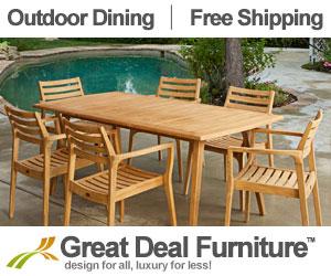 Walker 7pc Outdoor Teak Wood Dining Set - Free Shipping
