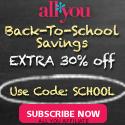 Back To School - Code SCHOOL 30% Off 125x125
