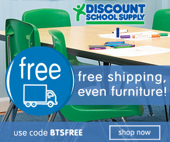 FREE SHIPPING ON EVERYTHING at Discount School Supply - Code: BTSFREE - ends Sept 29