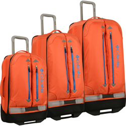 -Columbia Pack -and Go 3 Piece Wheeled Luggage Set Now Only $272.97 Org. $840.00 Plus Free Shipping. Use promo code CMPG at checkout.