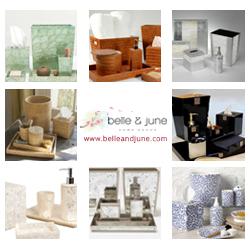 Shop luxury bath accessories and decor at www.belleandjune.com
