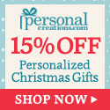 15% off Personalized Holiday Gifts from Personal Creations.