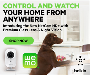 NEW Belkin NetCam HD+ Wi-Fi Camera with Glass Lense WeMo