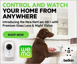 NEW Belkin NetCam HD+ Wi-Fi Camera with Glass Lense WeMo
