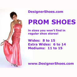 Prom Shoes - larger, wider sizes
