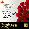 Now in Canada! Save up to 25% on flowers, plants and gifts 125 x 125