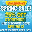 VeggieTales Spring Sale! 25% Off Storewide!