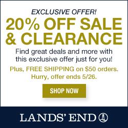 Lands' End Additional 20% off Sal