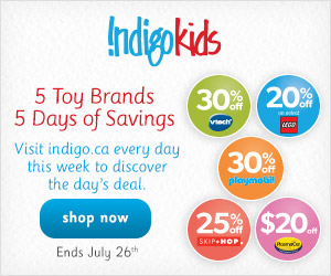 5 Toy Brands, 5 Days of Savings! Up to 30% off Top Toy Brands at Chapters.Indigo.ca!