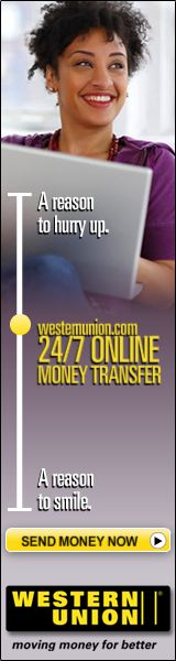 Send Money With Western Union Today!
