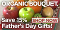 Father's Day Gifts Now 15% Off at OrganicBouquet.com!