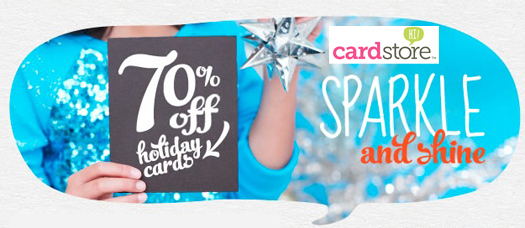 Last Day for 70% Off + Free Shipping at Cardstore (and Delivery By Christmas)