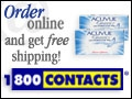 Order contact lenses and contact lens accessories online, acuvue color contacts available to order online, also day and night contacts, wild eyes, disposable contacts. Order Online at 1-800 CONTACTS!