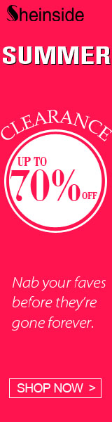 Save up to 70% off during the Summer Clearance Sale at SheInside.com