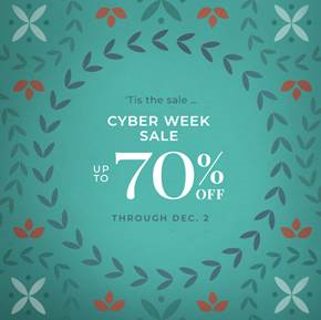 Cyber Monday Sale: Up to 70% Off