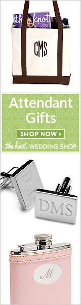 Attendant Gifts at The Knot Wedding Shop