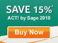 Save 15% on ACT! by Sage 2010