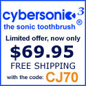 Cybersonic Toothbrush - Now Just $69.95