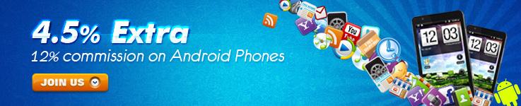 Скидки на телефоны с Android - 12%
