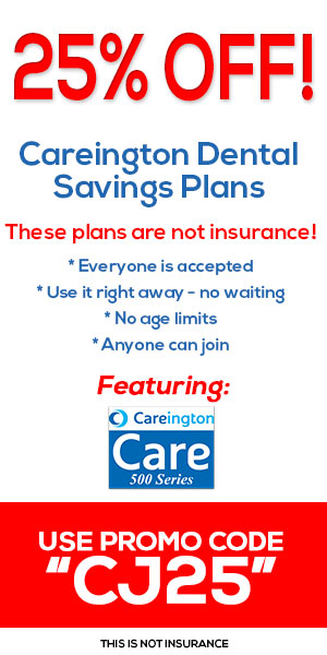 25% Off Careington Dental Savings Plans! Use promo code