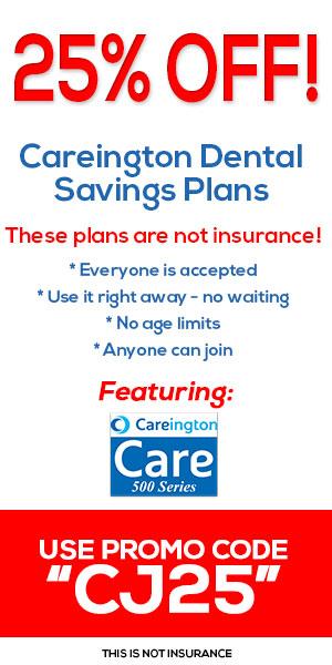25% Off Careington Dental Savings Plans! Use promo code