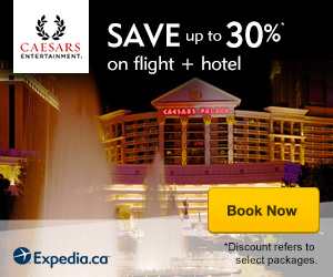 Save up to 30% on Flight + Hotel at Caesars with Expedia!