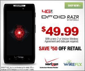 DROID Razr for Verizon Wireless