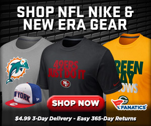 Shop Fanatics for Official NFL Team Gear from Nike and New Era
