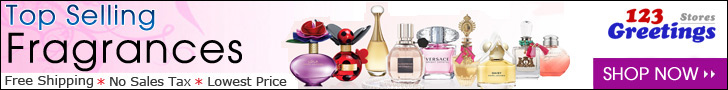Best seller perfumes at 123Greetings Store