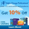 Alpha Omega Publications | 10% Off Switched-On Schoolhouse and all Home Education Orders with code: SAVEBIG