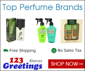 Top selling fragrances at 123Greetings Store