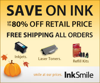 Save on Cartridges - Save Up to 80% off Retail Price plus Free Shipping at InkSmile