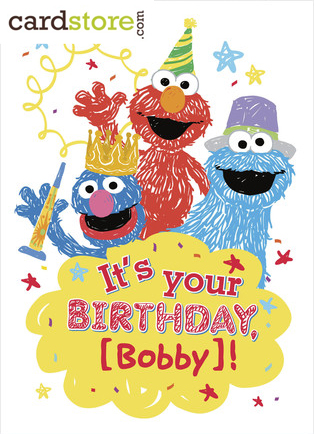 Sesame Street Personalized Birthday Cards at Cardstore.com