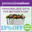 Love Grows Here! 15% off Personalized Mother's Day Gifts from Personal Creations - 125x125