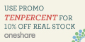 10% OFF One Share One Fee