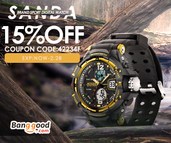 Extra 15% Off For SANDA Brand Sport Digital Watches Deals