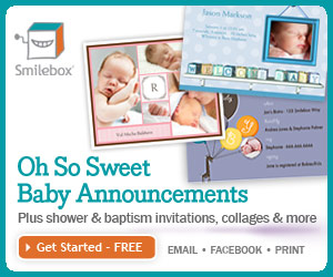 Create a baby scrapbook or slideshow with Smilebox