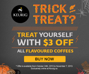 Get $3 OFF all flavoured coffees K-Cup Packs