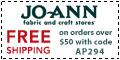 Free shipping at Joann.com! Code: AP349