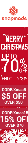 Snapmade 2015 Merry Christmas up to 70% Off Deals - 120*600