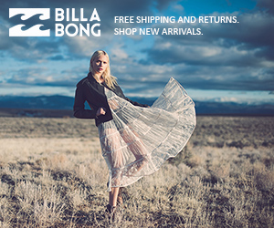 Get free shipping at Billabong