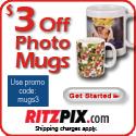 Save $3 on Customizable Photo Mugs Today!