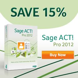 250x250 -- Save 15% on ACT! By Sage 2010