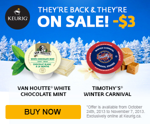 ON SALE! $3 OFF on all flavoured K-Cup coffee