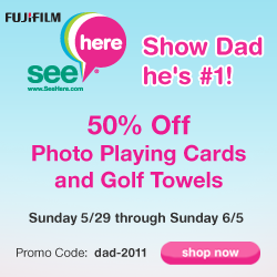 50% Off Photo Playing Cards and Golf Towels with P