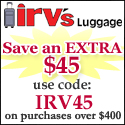 Save $45 off $400 with Coupon IRV45