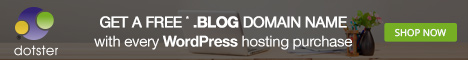 Get a Free .BLOG Domain Name with every WordPress Hosting Purchase at Dotster.com! Shop Now!