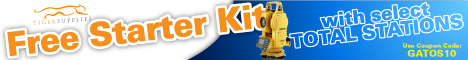 Total Stations with free tool kit